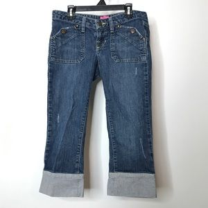 The Limited Sexy Drew Fit Denim Capris Size 0